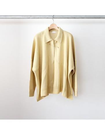 wide knit shirts cardigan (YEL)