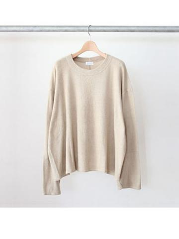 long sleeve pile tee (BEG)