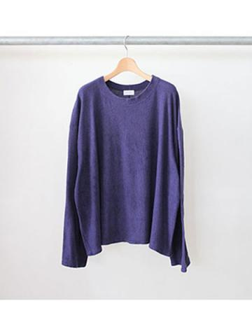 long sleeve pile tee (NVY)