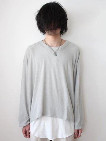 long sleeve pile tee (GRY)サブイメージ1