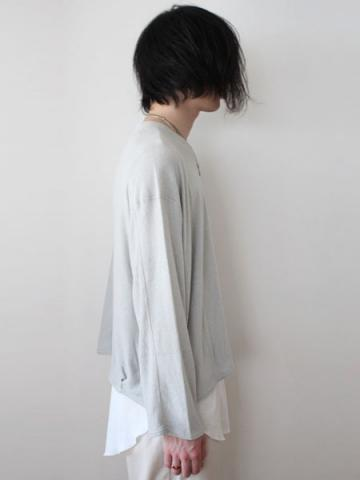 long sleeve pile tee (GRY)サブイメージ2