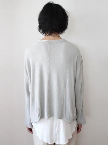 long sleeve pile tee (GRY)サブイメージ3