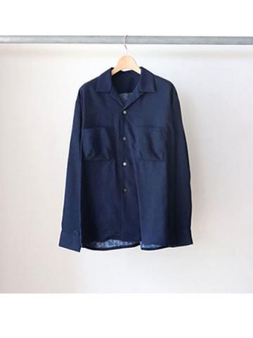 open collar shirt (BLU)