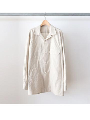 cotton silk open collar shirts