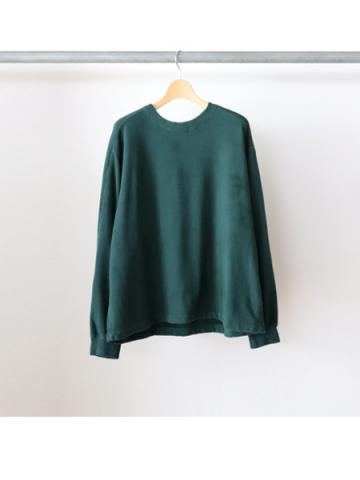 Cotton seed stitch L/S tee (GRN)