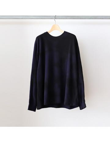 Cotton seed stitch L/S tee (NVY)