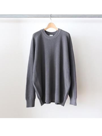 Crew neck over knit (GRY)
