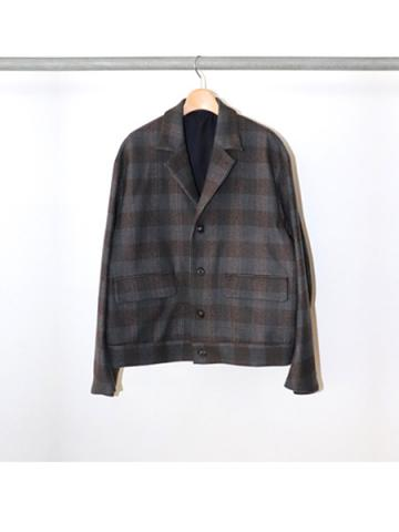 Wool check short jacket(GRY)