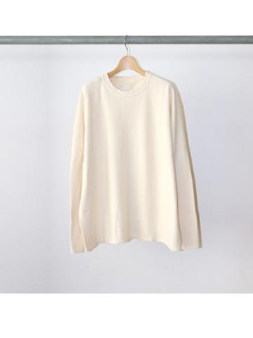 Cotton pile L/S tee (IVY)