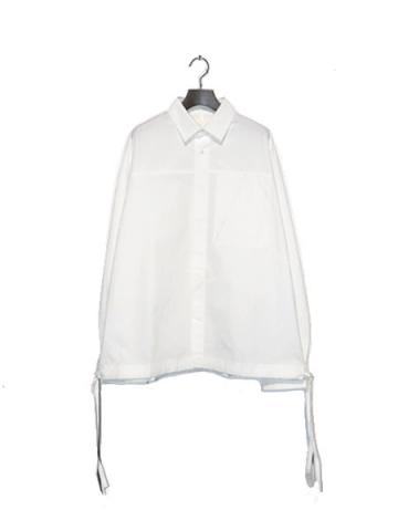 "ACTIVE SIDE SLIT SHIRT ""A""(WHT)"