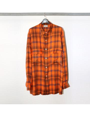 Over sized check blouse (ORG)