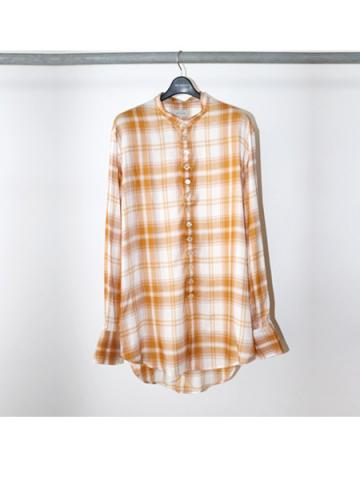 Stand coller check blouse (ECR)
