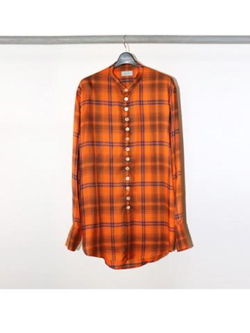 Stand coller check blouse (ORG)