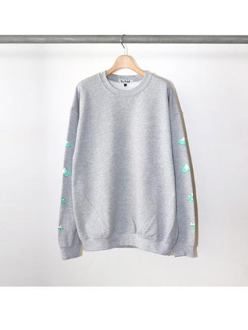 PARTY'S OVER L/S SWT (GRY)