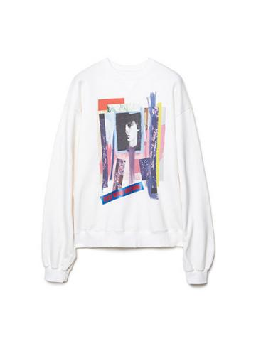 Graphic Print Sweatshirt (WHT)