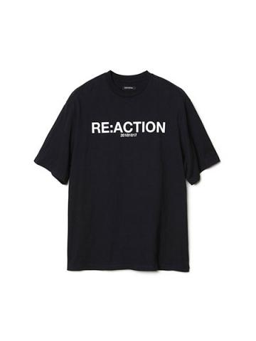 RE:ACTION Print T-shirt (BK)