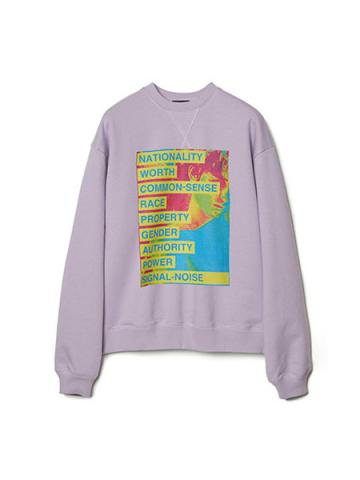 Graphic Print Sweatshirt (LAV)