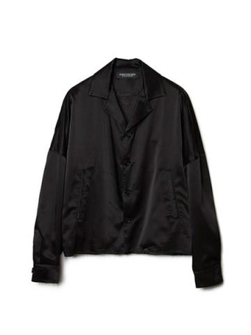 Oversized Satin Vietnam Jacket (BLK)