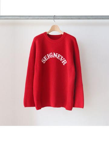 OVERSIZED RIB KNIT (RED)