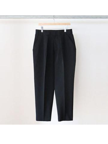 WIDE TAPERED SLACKS (BLK)