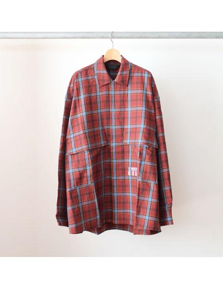 Essay oversized open collar shirt