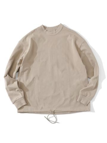 INVERTED PLEATS L/S T-SHIRT (SND)