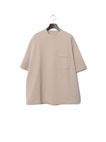 INVERTED PLEATS POCKET T-SHIRT (SND)