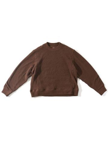 COTTON CREW NECK KNIT SAW (BRN)