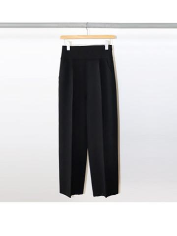 Amunzen high waist tapered pants (BLK)