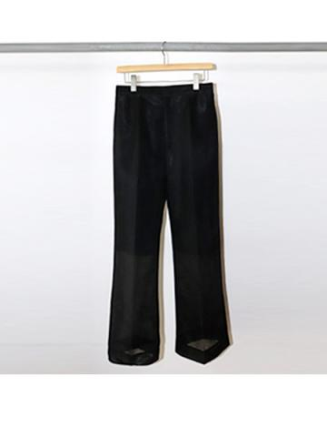 Seer double knit wide slacks (BLK)