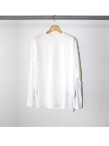 Cotton nylon seer layered Tee (WHT)