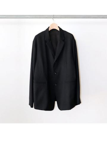 3 button box jacket (BLK)