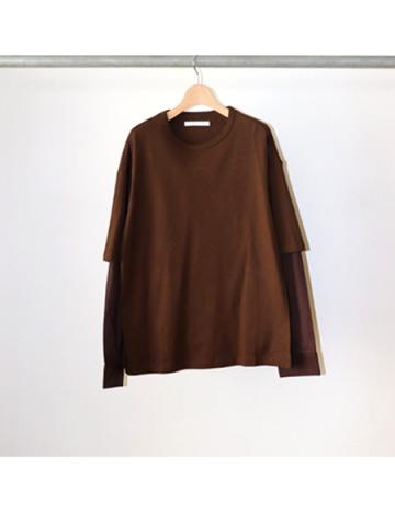 double sleeve t-shirt (BRN)