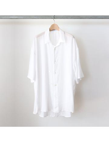 double-buttoned short sleeve shirts (WHT)