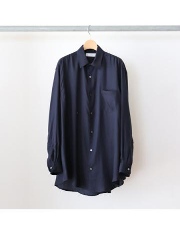 drape double one button shirts  (NVY)