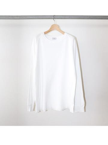 COTTON THERMAL / CREW NECK L/S TEE (WHT)