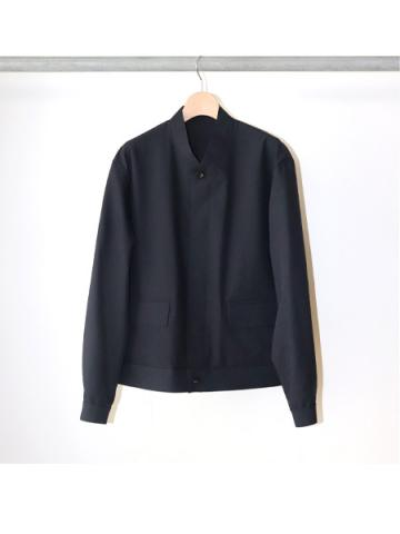 POLYESTER / FLY FRONT BLOUSON (NVY)
