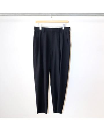 POLYESTER / 2 TUCK PANTS (NVY)
