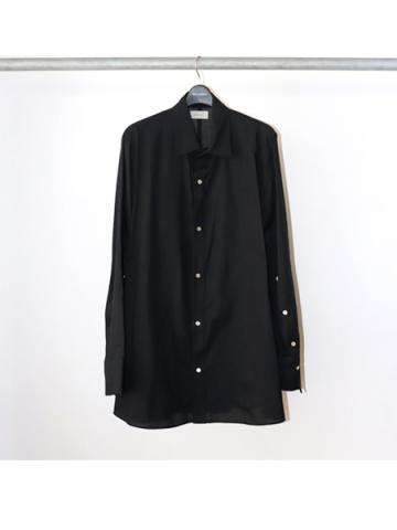 Cotton Silk Basic Shirt (BLK)