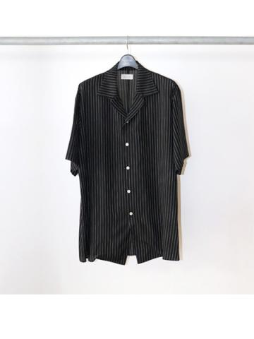 Stripe Half Sleeve Shirt (BLK)