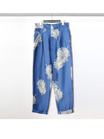 Jacquard tapered trousers (BLU)