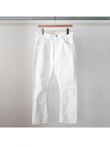 BOOTS CUT DENIM PANTS (WHT)