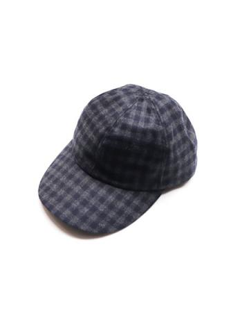 CHECK CAP (GRY/NVY)