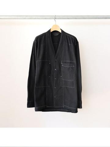 COLLARLESS SHIRT (BLK)