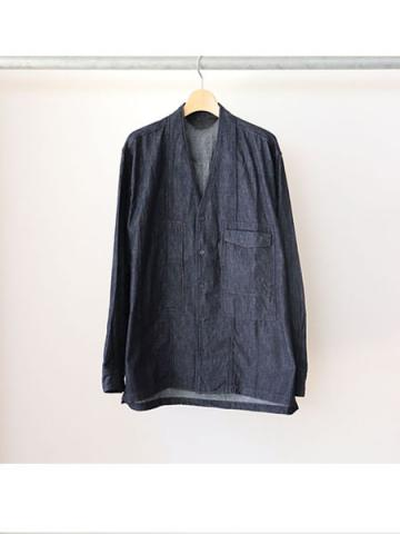 COLLARLESS SHIRT (INDIGO)