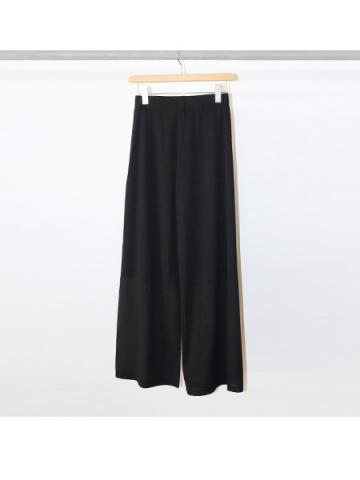 Cotton nylon easy pants (BLK)
