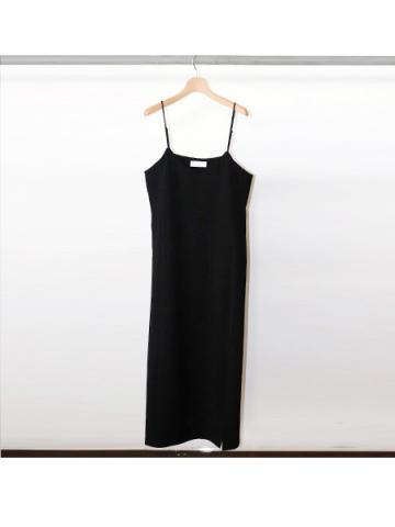 Dobby camisole dress (BLK)