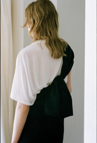 Nylon cotton grosgrain sash belt (BLK)
