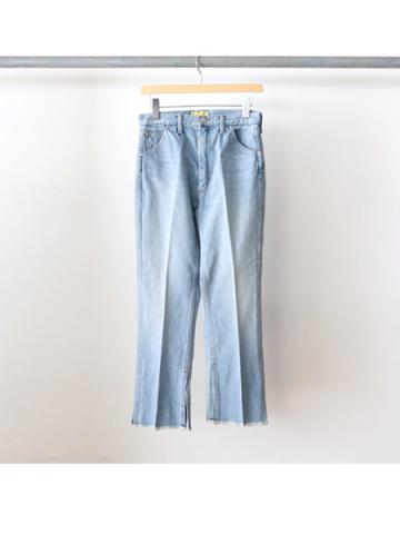 13oz vintage denim center press pants (BLU)