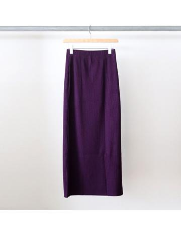 Pe/c wide rib side slit maxi skirt (PLE)